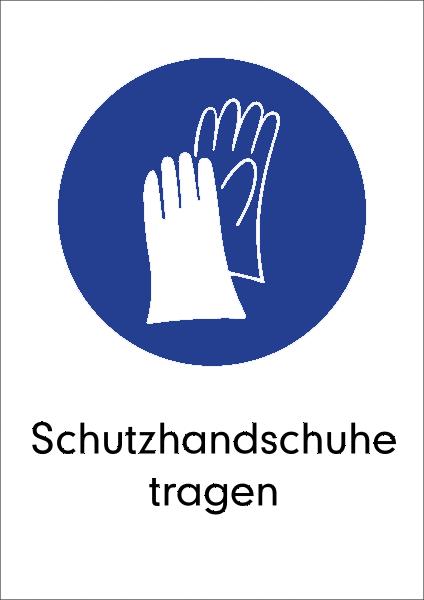 Schutzhandschuhe tragen Aufkleber Kreis